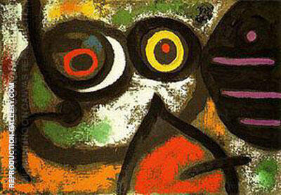 Woman and Birds 1966 By Joan Miro - Oil Paintings & Art Reproductions - Reproduction Gallery