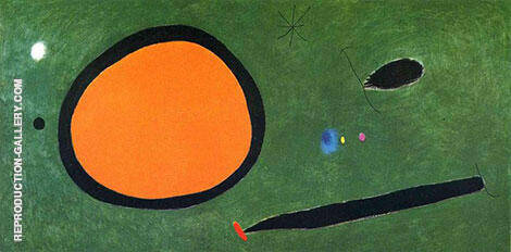 Bird's Flight in Moonlight 1967 By Joan Miro Replica Paintings on Canvas - Reproduction Gallery