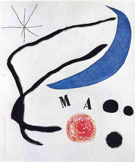 Poem I 1968 By Joan Miro Replica Paintings on Canvas - Reproduction Gallery