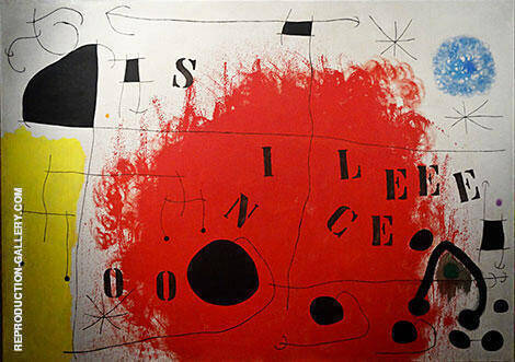 Reproduction of Silence 1968 by Joan Miro | Oil Painting Replica On CanvasReproduction Gallery