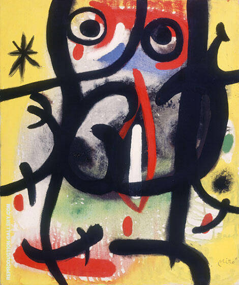 Woman in the Night 1970 By Joan Miro - Oil Paintings & Art Reproductions - Reproduction Gallery