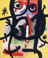Woman in the Night 1970 By Joan Miro