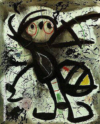 Woman 1976 A Painting By Joan Miro - Reproduction Gallery