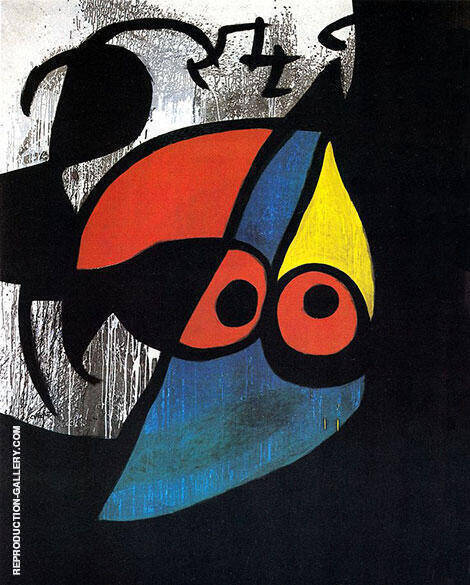 Reproduction of Woman Bird 1974 by Joan Miro | Oil Painting Replica On CanvasReproduction Gallery