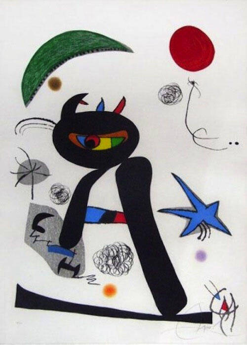 Barbare dans la Neige Painting By Joan Miro - Reproduction Gallery