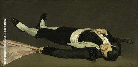 The Dead Toreador 1864 By Edouard Manet