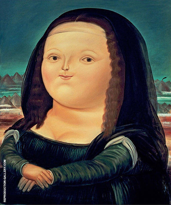 Mona Lisa Painting By Fernando Botero - Reproduction Gallery