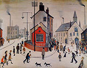 A Street In Clitheroe By L-S-Lowry