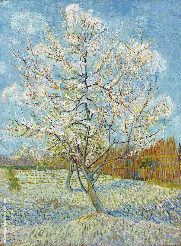 Pink Peach Tree in Blossom Painting By Vincent van Gogh