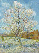 Pink Peach Tree in Blossom By Vincent van Gogh