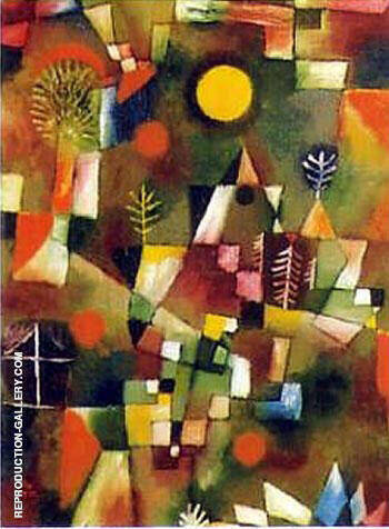 Der Volland 1919 Painting By Paul Klee - Reproduction Gallery