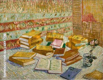 Parisian Novels Yellow Books 1887 By Vincent van Gogh - Oil Paintings & Art Reproductions - Reproduction Gallery