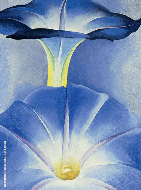 Blue Morning Glories 1935 Painting By Georgia O'Keeffe