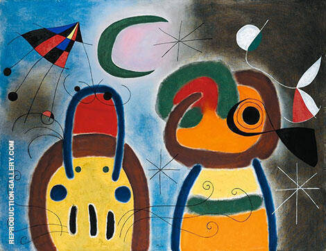 L'Oiseau au Plumage Deploye Painting By Joan Miro - Reproduction Gallery