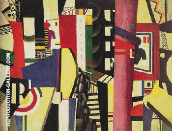 The City 1919 Painting By Fernand Leger - Reproduction Gallery