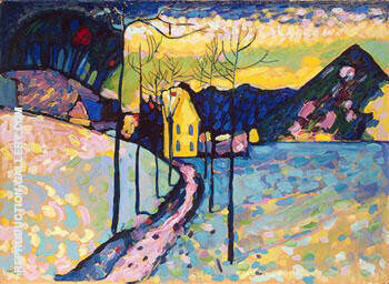Winter Landscape 1909 By Wassily Kandinsky Replica Paintings on Canvas - Reproduction Gallery