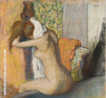 After the Bath, Woman Drying Her Nape 1895 Painting By Edgar Degas
