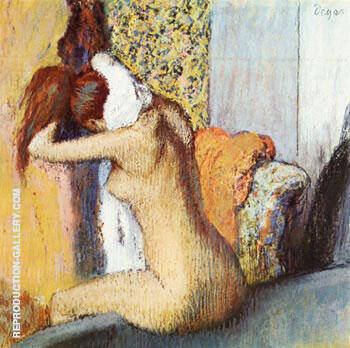 After the bath By Edgar Degas - Oil Paintings & Art Reproductions - Reproduction Gallery