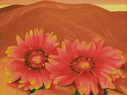 Red Hills with Flowers 1937 By Georgia O'Keeffe