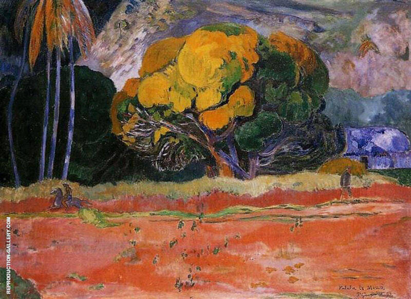 Fatata Te Moua At the Foot of a Mountain 1892 Painting By Paul Gauguin