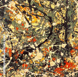 No 8 1949 Square Detail By Jackson Pollock