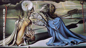 Tristan and Isolde 1944 By Salvador Dali Replica Paintings on Canvas - Reproduction Gallery