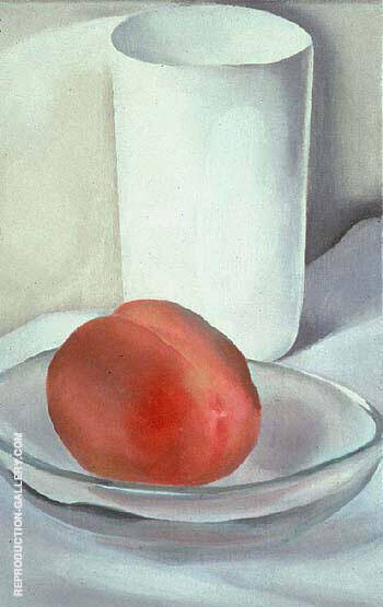 Peach and Glass 1927 Painting By Georgia O'Keeffe - Reproduction Gallery