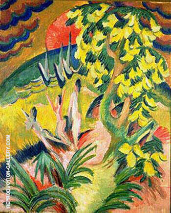 Curving Bay 1914 Painting By Ernst Kirchner - Reproduction Gallery