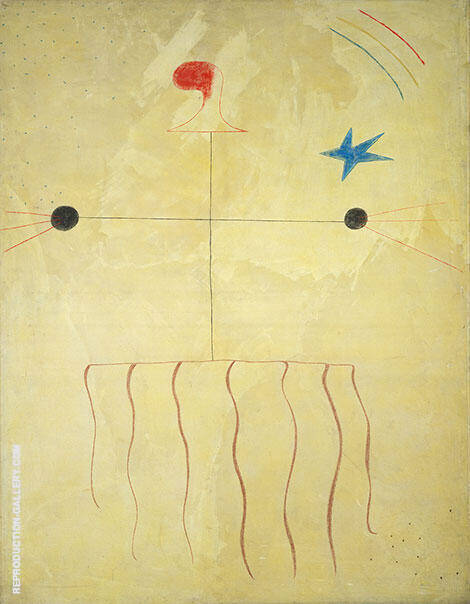 Head of a Catalan Peasant 1924 By Joan Miro Replica Paintings on Canvas - Reproduction Gallery