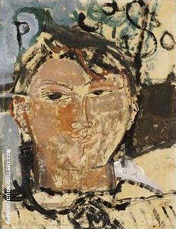 Portrait de Picasso Painting By Amedeo Modigliani - Reproduction Gallery