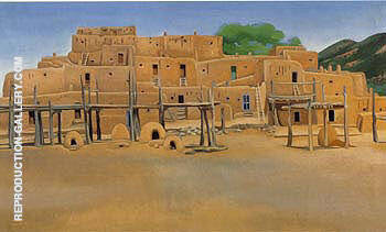 Reproduction of Taos Pueblo 1929 by Georgia O'Keeffe | Oil Painting Replica On CanvasReproduction Gallery