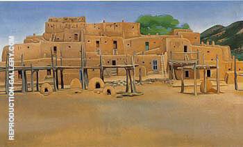 Taos Pueblo 1929 By Georgia O'Keeffe