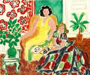 Robe Jaune Et Robe Arlequin 1940 By Henri Matisse