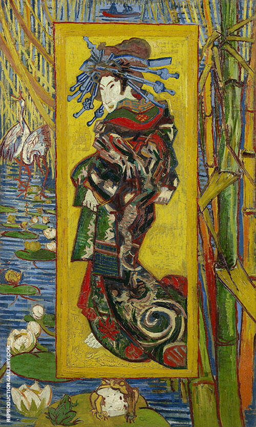 The Courtesan after Eisen 1887 By Vincent van Gogh Replica Paintings on Canvas - Reproduction Gallery