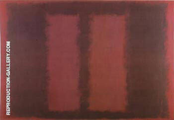 Sketch for Mural 6, Black Over Maroon 1958 By Mark Rothko