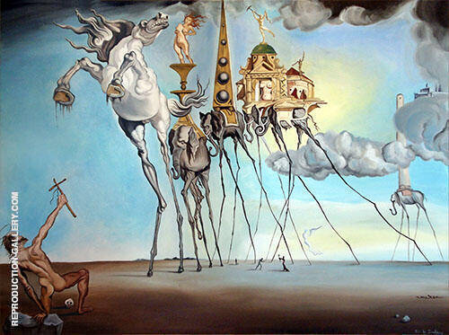The Temptation of St. Anthony 1946 Painting By Salvador Dali