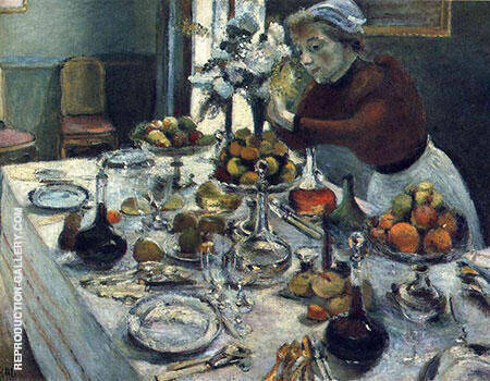 The Dinner Table 1896 By Henri Matisse - Oil Paintings & Art Reproductions - Reproduction Gallery