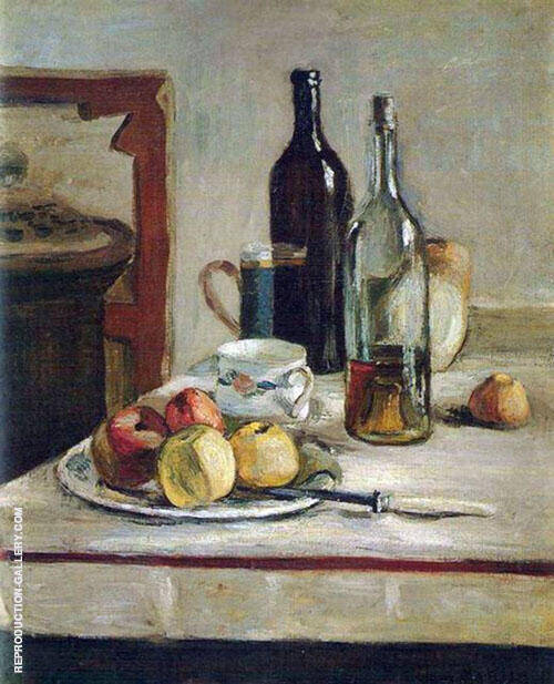 Still Life with Two Bottles 1896 Painting By Henri Matisse