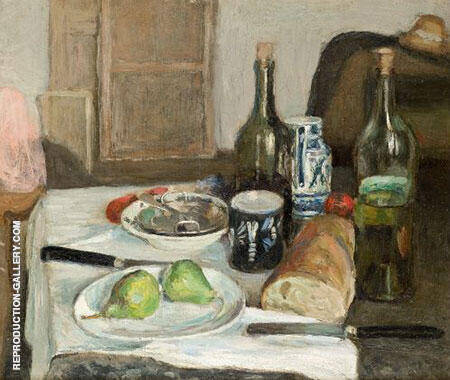 Still Life with Black Knife 1896 By Henri Matisse - Oil Paintings & Art Reproductions - Reproduction Gallery
