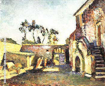 The Courtyard of the Mill 1898 By Henri Matisse - Oil Paintings & Art Reproductions - Reproduction Gallery