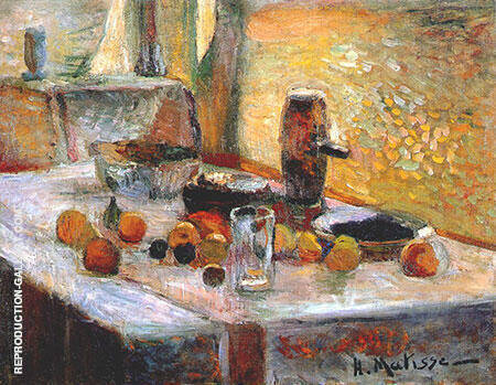 First Orange Still Life early 1899 By Henri Matisse