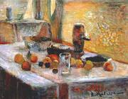 First Orange Still Life early 1899 By Henri Matisse