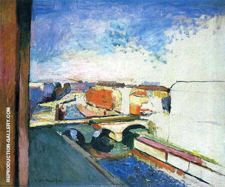 Pont Saint Michel 1900 By Henri Matisse - Oil Paintings & Art Reproductions - Reproduction Gallery