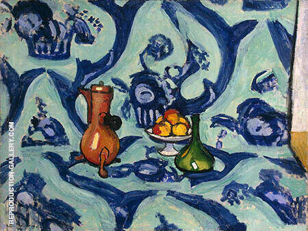 Still Life with Blue Tablecloth By Henri Matisse - Oil Paintings & Art Reproductions - Reproduction Gallery