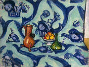 Still Life with Blue Tablecloth By Henri Matisse