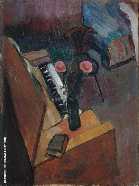 Interior with Harmonium Painting By Henri Matisse - Reproduction Gallery