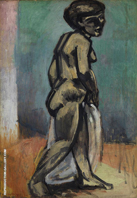 Standing Model Nude in Blue 1900 By Henri Matisse Replica Paintings on Canvas - Reproduction Gallery