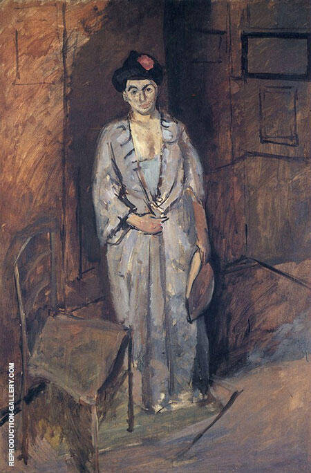 Mme Matisse in a Japanese Robe 1901 By Henri Matisse
