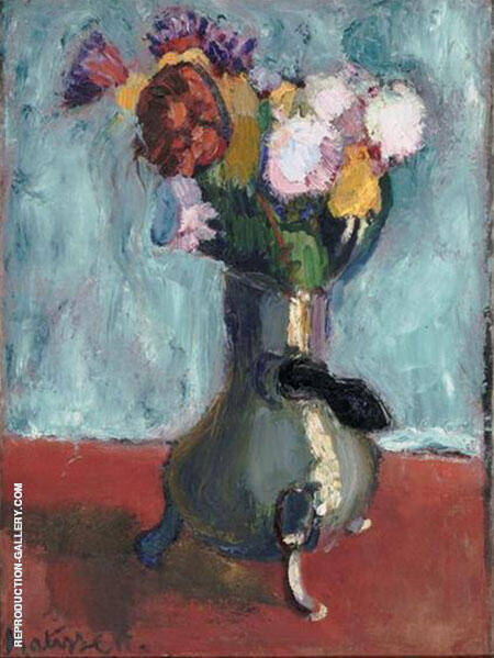 Bouquet of Flowers in a Chocolate Pot 1902 By Henri Matisse Replica Paintings on Canvas - Reproduction Gallery