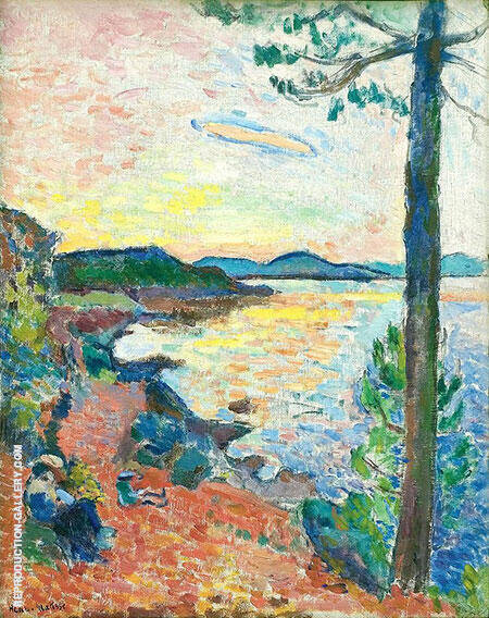 The Gulf of Saint Tropez 1904 By Henri Matisse - Oil Paintings & Art Reproductions - Reproduction Gallery